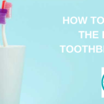 Toothbrushes in a white cup.